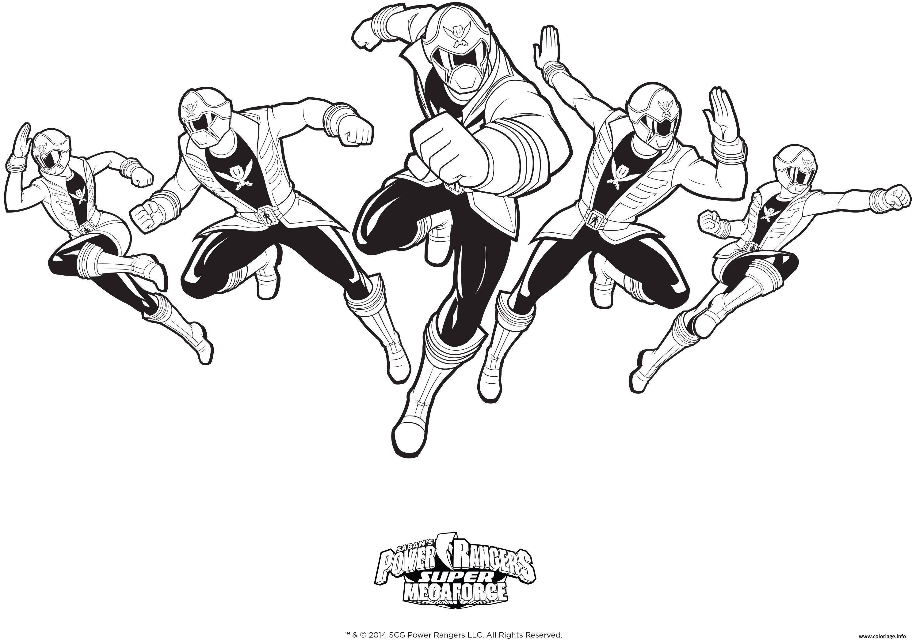 Coloriage Power Rangers Super Mega Force Dessin  Imprimer