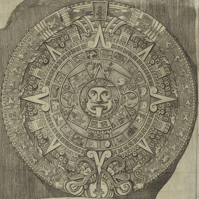 Aztec stone found in Mexico in 1790