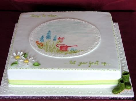 Retirement Cakes   From £55.00   Centrepiece Cake Designs