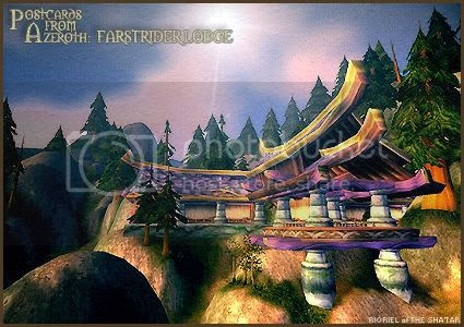 Postcards of Azeroth: Farstrider Lodge, by Rioriel Ail'thera