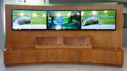 Saturn Digital Media digital signage wall at Libro Financial Group London West2 thumb
