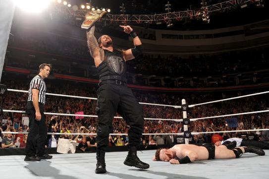 Roman Reigns Defeats Sheamus to Win WWE World Heavyweight Championship