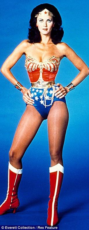 O ícone eo axed: Lynda Carter como Mulher Maravilha na encarnação mais famoso dos super-heróis e Adrianne Palicki como o seu para o piloto mostrar no ano passado, mas a nova série nunca foi pego