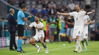 Инсинье признан лучшим игроком матча Евро-2020 Бельгия — Италия