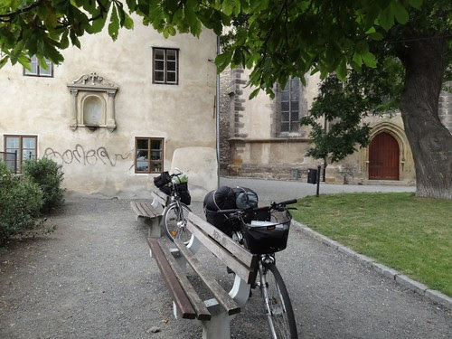 Elberadweg Fahrräder mit Gepäck