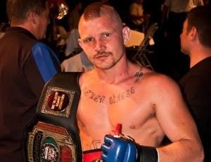 Saling estreou no Strikeforce com polêmica, ao esconder sua ficha criminal dos organizadores e exibir no corpo tatuagens de cunho nazista