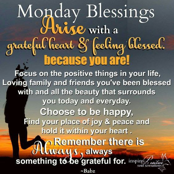 Arise With A Grateful Heart Feeling Blessed Because You Are