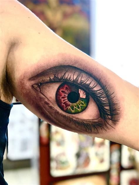 color blind eye tattoo mike sledz deluxe