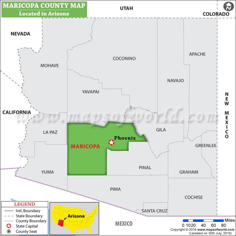 Maricopa County Map Arizona