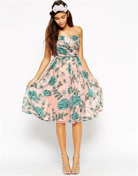 ASOS WEDDING Midi Dress With Ruched Wrap from ASOS