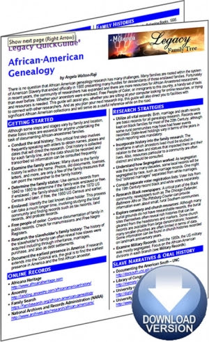 African-American Genealogy Digital