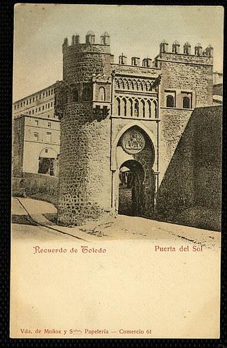 Puerta del Sol, Toledo. Postal Viuda de Muñoz y sobrino