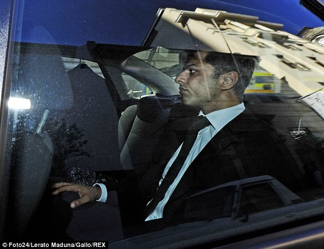 Dewani, 34, (pictured at the start of the trial ) looked occasionally agitated as he sat through CCTV clips which captured meetings between him and taxi driver Zola Tongo in the hours and days after Anni's death