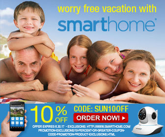 Summer is easy with a SmartHome coupon 10% Off with code SUN10OFF