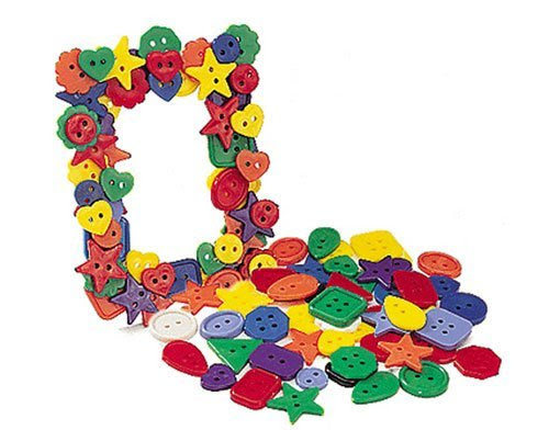 ROYLCO R2131 Bright Buttons, Assorted Sizes, Shapes and Color, 1/2-Pound