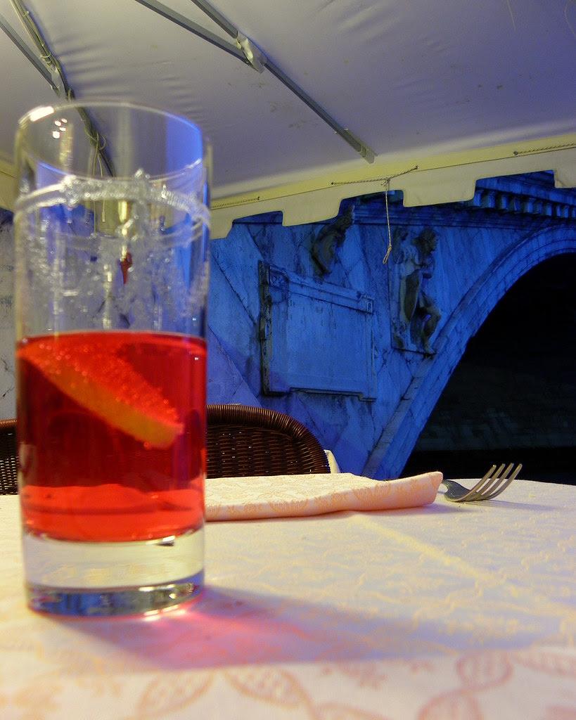 Campari Soda Next To The Rialto