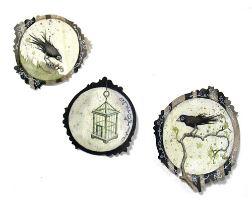 Three little paintings by leontine.