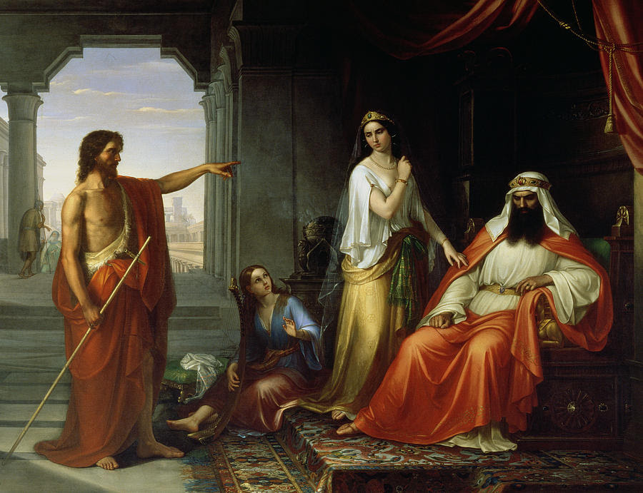 Saint John the Baptist convicts Herod. Giovanni Fattori (1825-1908)