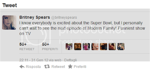 britney parla del super bowl: il tweet dell'anno