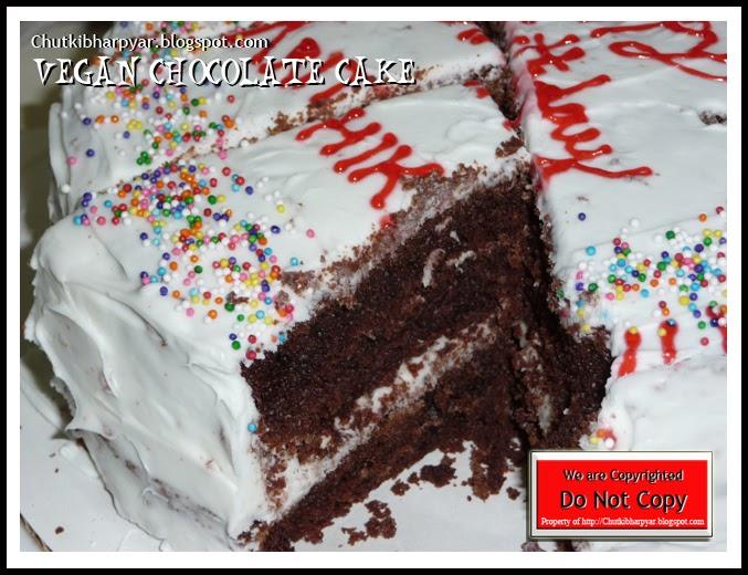 Shubha 39 s kitchen chutki bhar pyar vegan chocolate cake for Granny pottymouth bakes a vegan cake