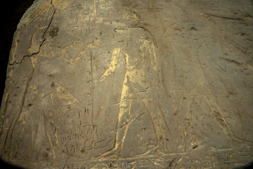 This sandstone stela was among another announcement of            finds from Kom Ombo (photo: Ministry of Antiquities)