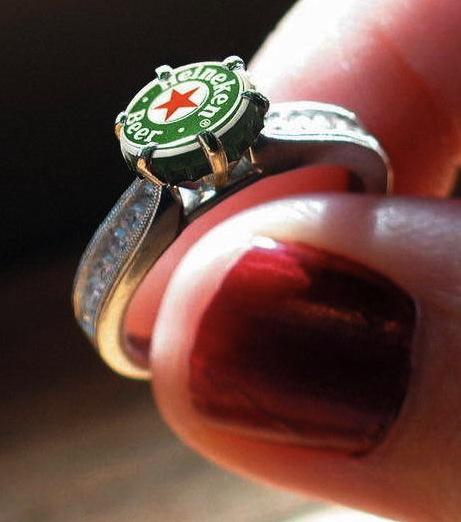 Heineken Beer Bottle Cap Ring
