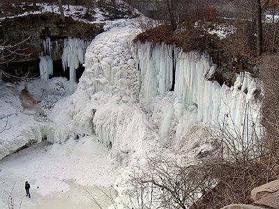 Minnehaha Falls frozen  February 2006