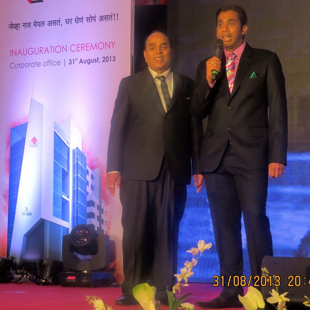 Mr. Ashok Agarwal & Mr. Sachin Agarwal at the inauguration of Maple Group's Corporate Office