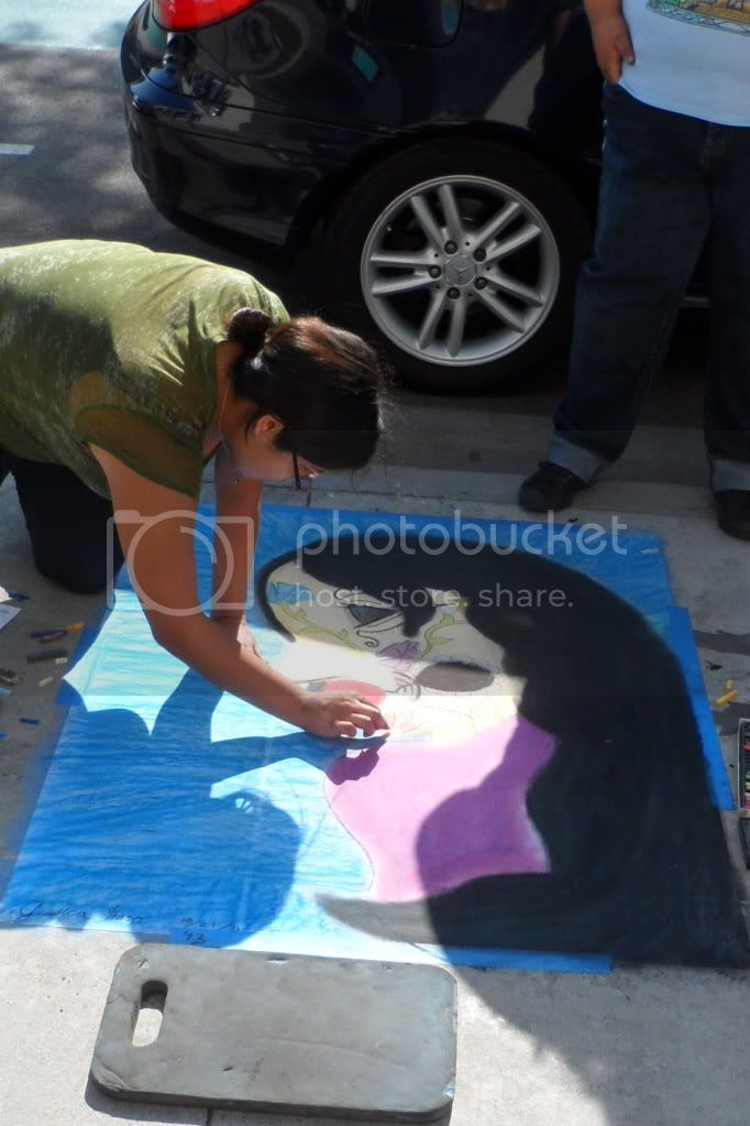 2nd Street: Sidewalk Chalk Art