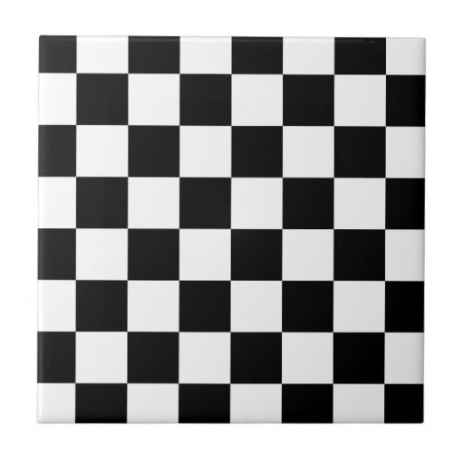Black and White Checkered Pattern Gifts Ceramic Tile from Zazzle.