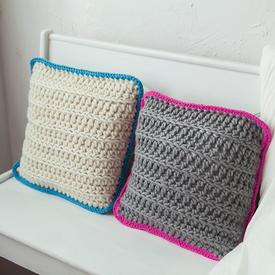 Pop of Comfort free pillow Crochet pattern