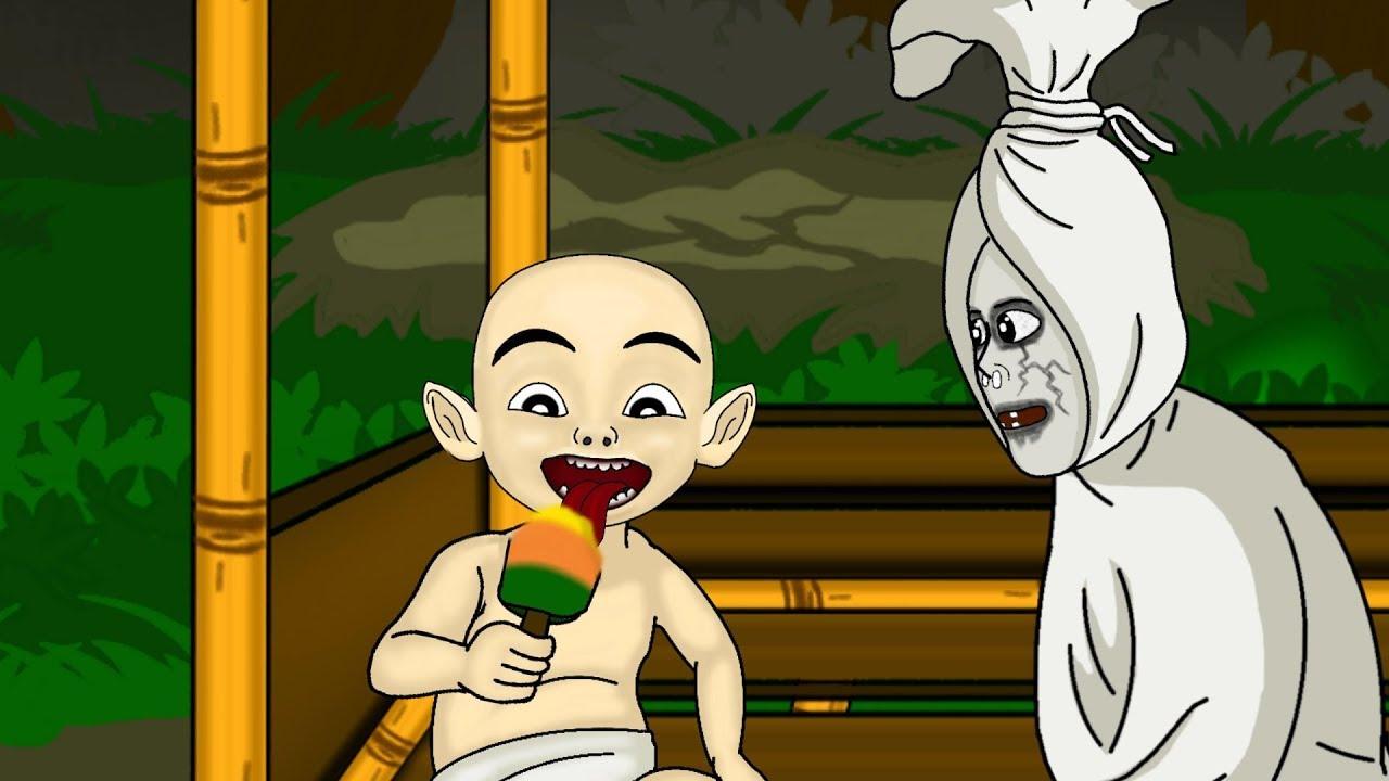 5500 Hantu Pocong Kartun Video Terbaik Gambar Hantu