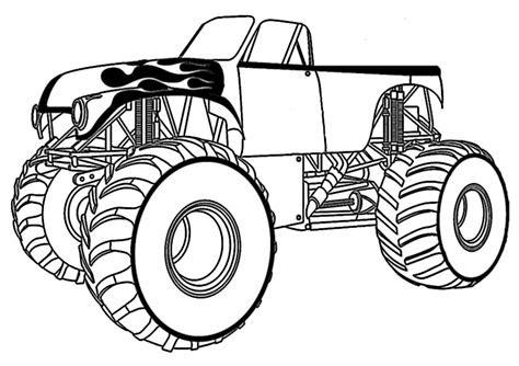 malvorlagen zum ausdrucken monster truck - kostenlose