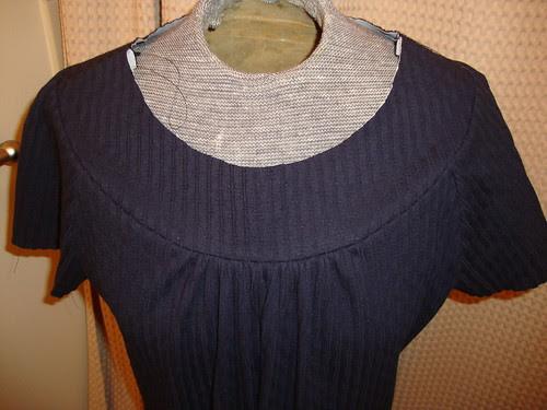 Butterick 5244 muse dress in progress
