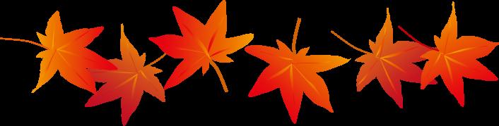 秋の紅葉もみじのイラスト 無料イラストフリー素材