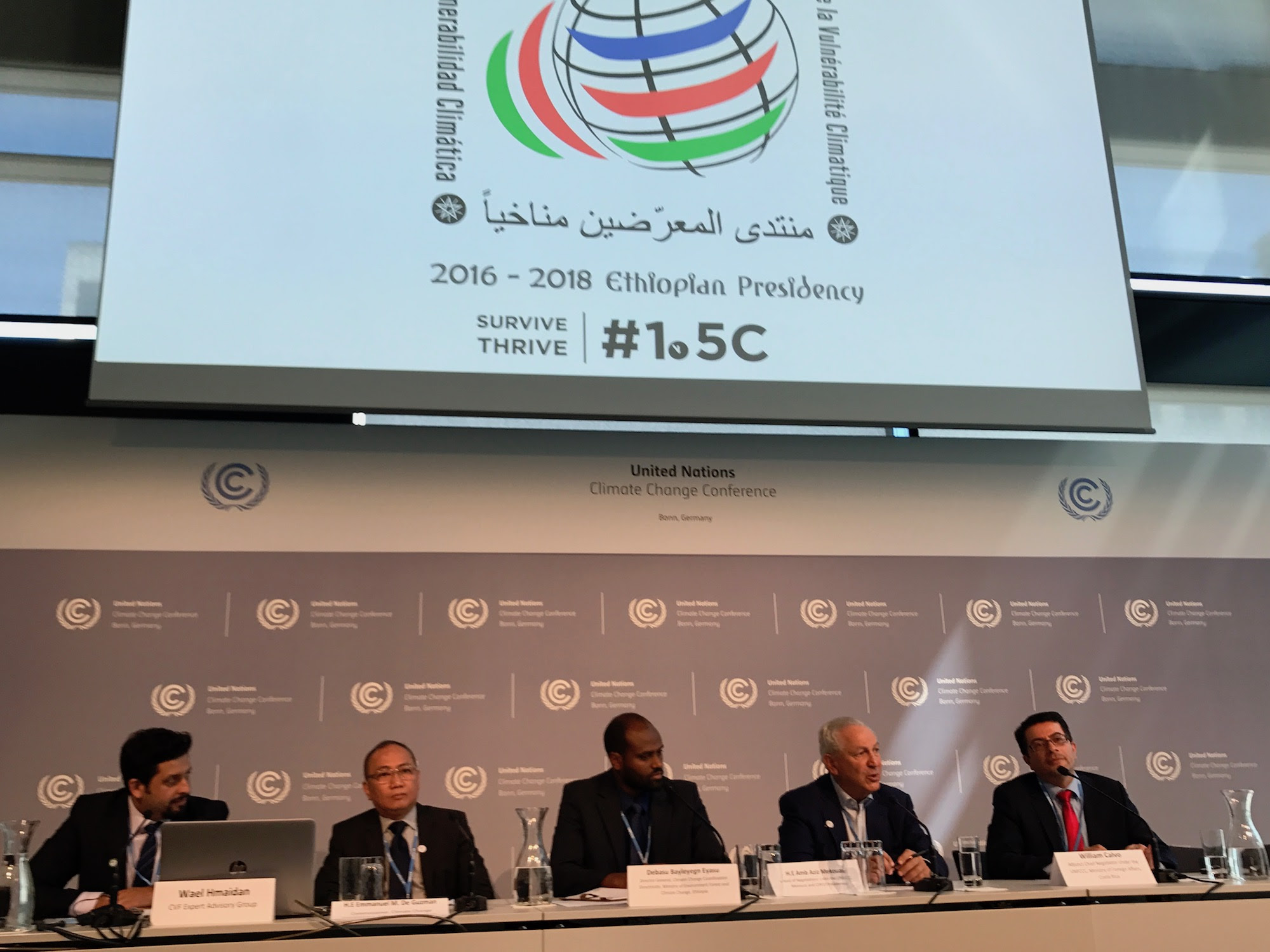 Climate Vulnerable Forum – Drive for greater climate action - United Nations Climate Change Conference at Bonn, Germany 17 May 2017