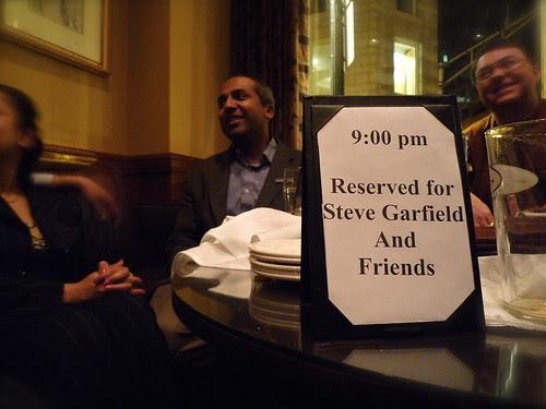 Sree Sreenivasan, Reserved for Steve Garfield and Friends