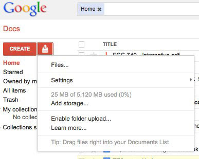 Google Docs bumps up free storage to 5GB, warms up servers for Drive?