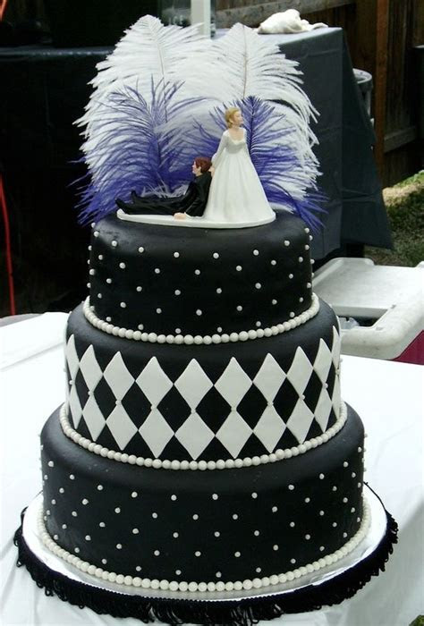 1920s Style Wedding Cake   Wedding cake for a 1920's