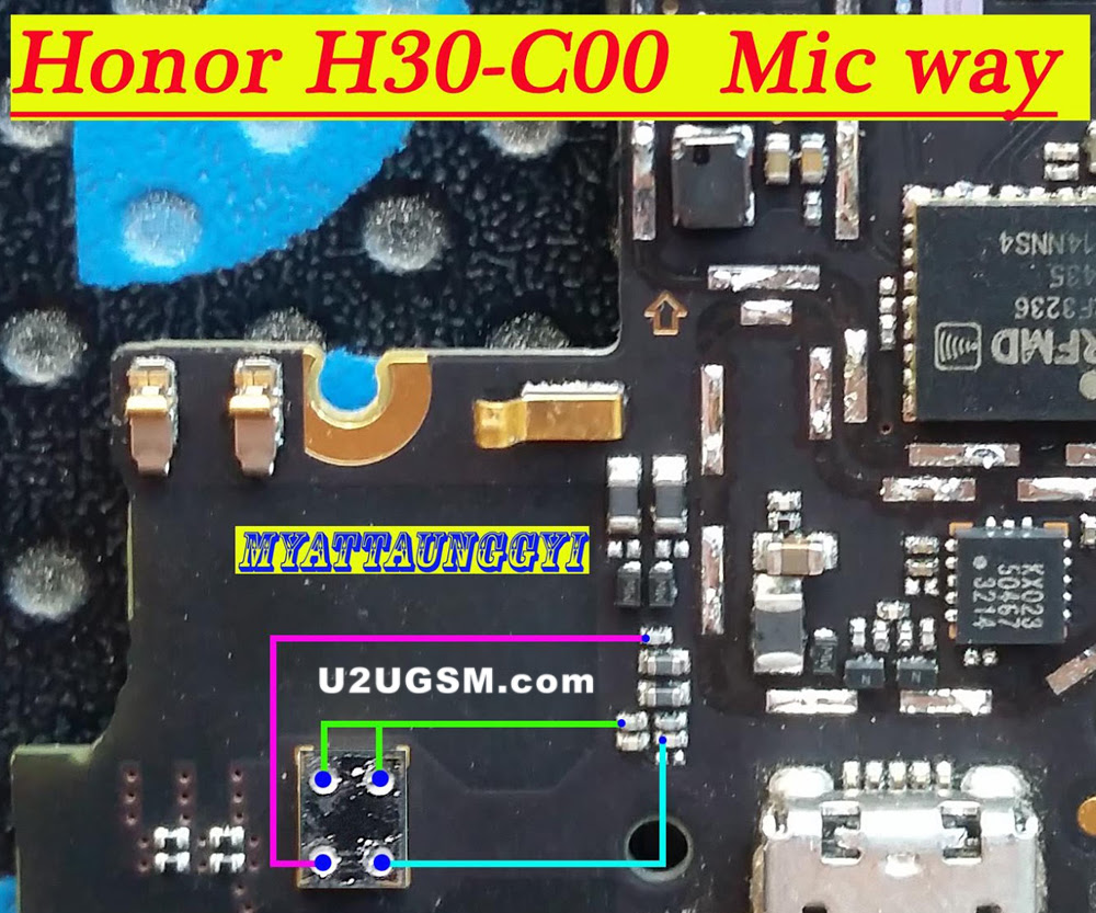 Huawei Honor 3C H30-C00 Mic Problem Jumper Solution Ways Microphone Not Working