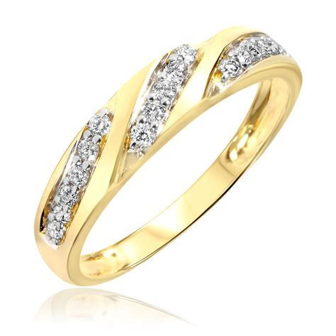 1 Carat Diamond Trio Wedding Ring Set 14K Yellow Gold   My