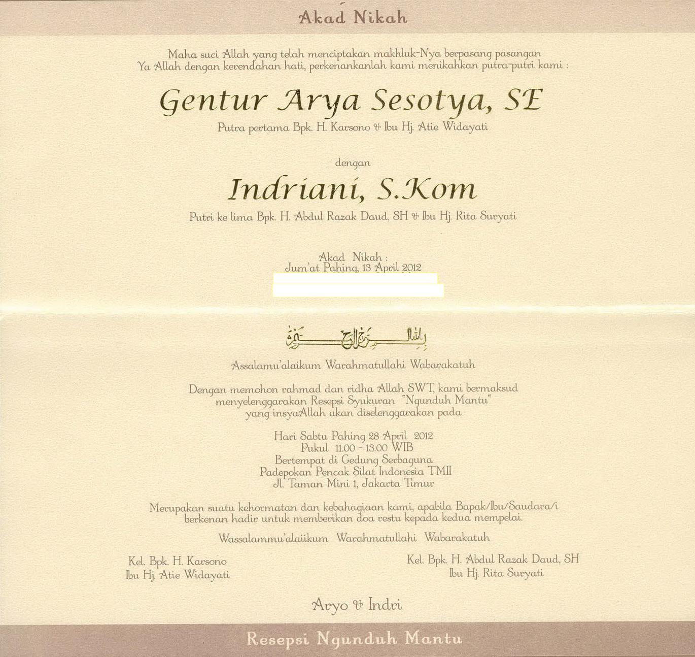 6200 Koleksi Contoh Undangan Pernikahan Ngunduh Mantu ...