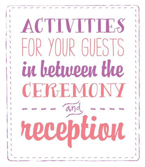 Time between wedding ceremony and reception   Invitations