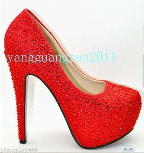 red prom shoes ebay