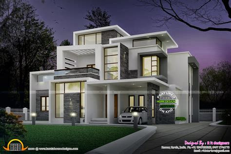grand contemporary home design kerala home design