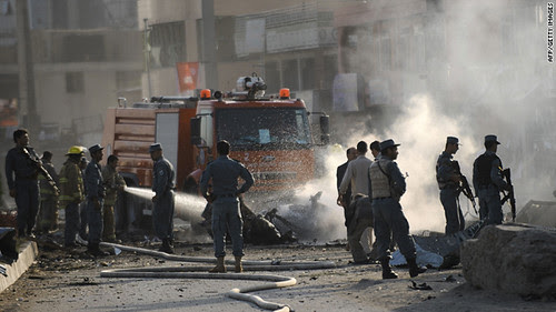 The British Council in Kabul, Afghanistan was struck by powerful explosions on August 19, 2011. The resistance forces have stepped-up their offensive in recent months against the US-NATO occupiers. by Pan-African News Wire File Photos
