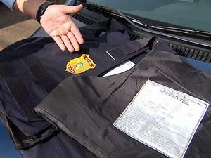 Com coletes à prova de bala vencidos, guardas municipais fazem paralisação em Hortolândia, SP (Foto: Reprodução EPTV)