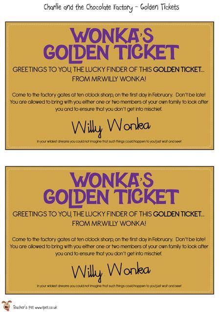 1000+ ideas about Golden Ticket on Pinterest | Ticket design, Film ...