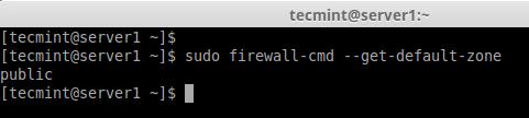 Firewalld Default Zone