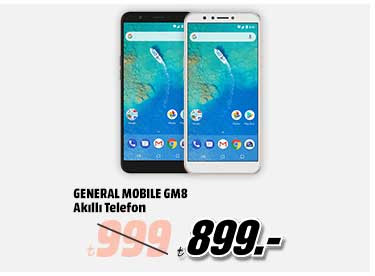 GENERAL MOBILE GM8 Akıllı Telefon 899TL